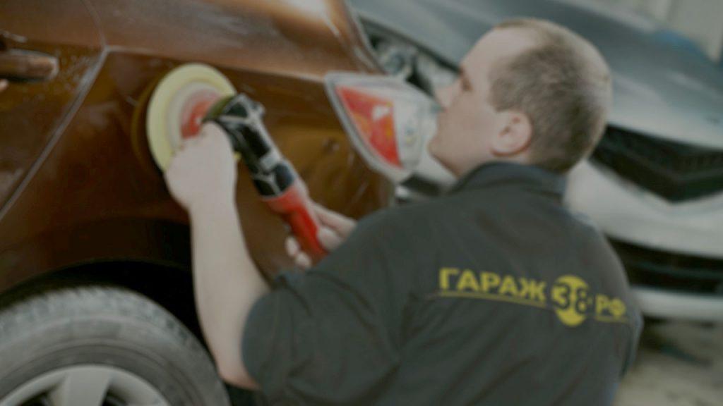 Покраска автомобилей в Иркутске - полировка